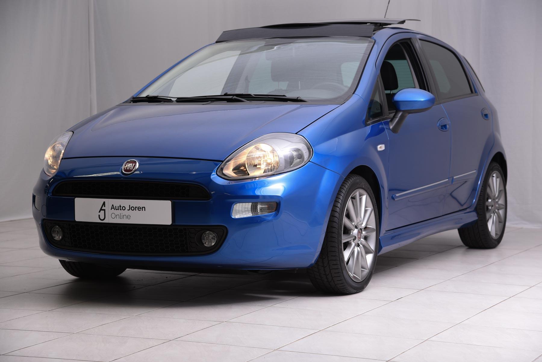Fiat Punto Lounge Autojoren.online Diesel blauw opendak climate control cruise control exterieur 8